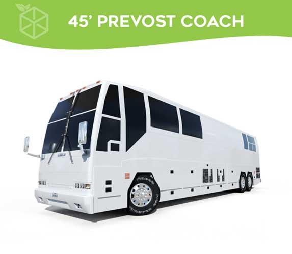 45' Prevost Coach