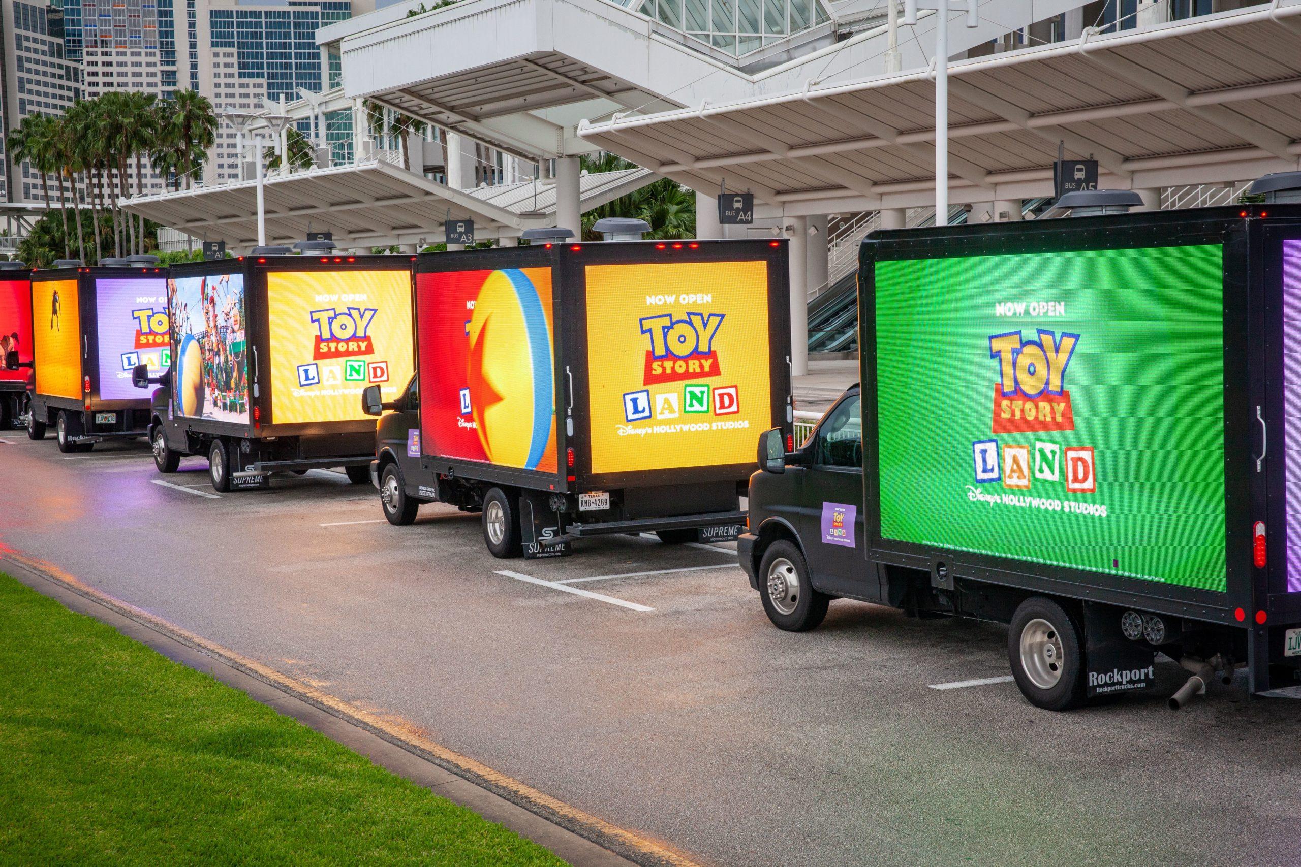 Smart LED Billboard Truck - Toy Story
